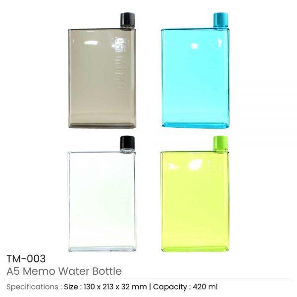 A5 Memo Water Bottles