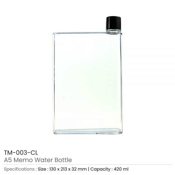 A5 Memo Water Bottles Transparent