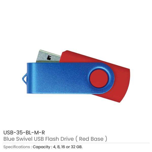 Blue Swivel USB - Red Case