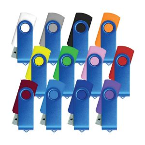 Blue Swivel USB Flas Drives