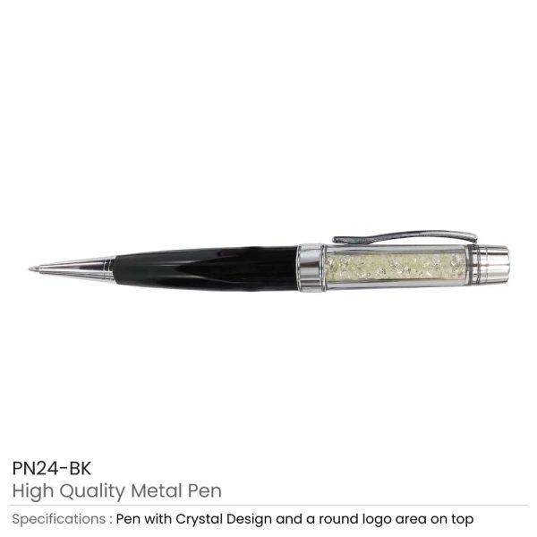 Crystal Metal Pens Black