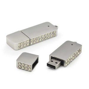 USB Flash with Crystal studded
