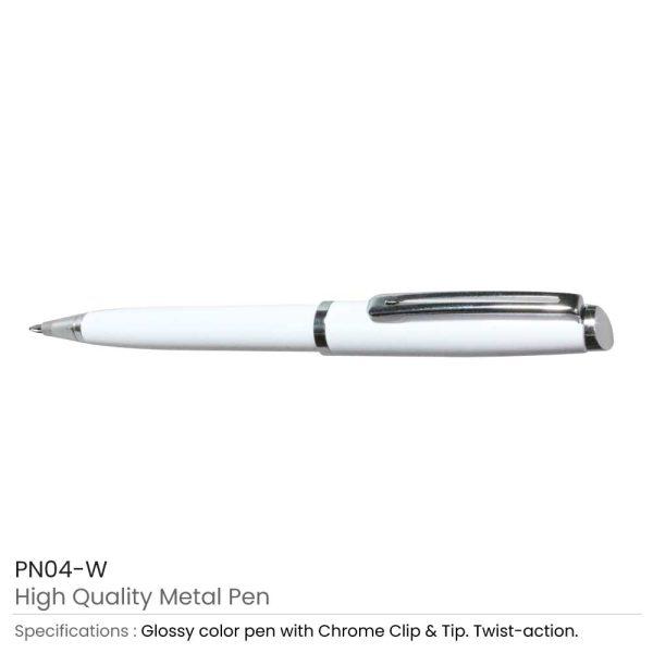 White High Quality Metal Pens