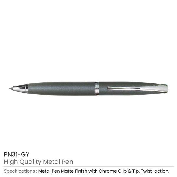 Grey Metal Pens