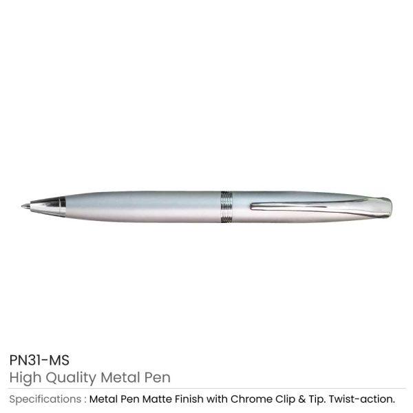 Silver Matte Metal Pens