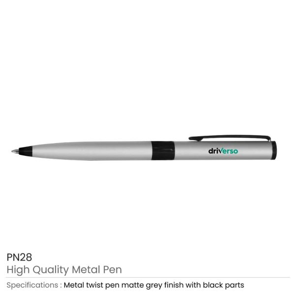 Promotional Matte Silver Metal Pens