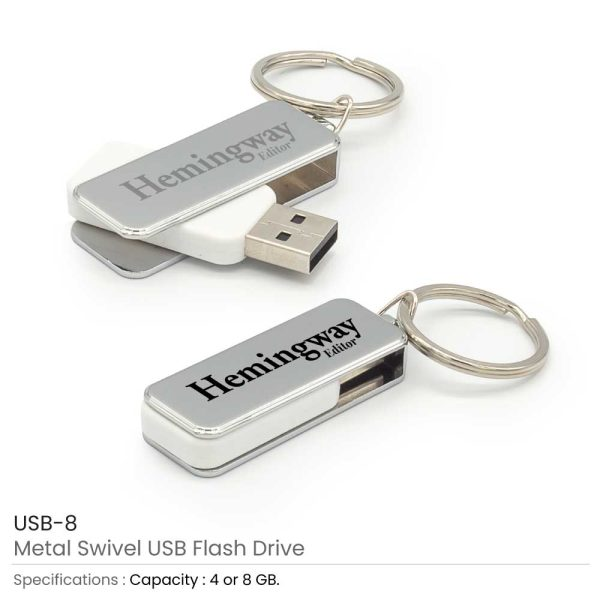 Metal USB Flash Keychains