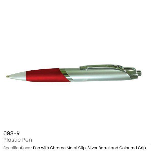 Plastic Pens - Red