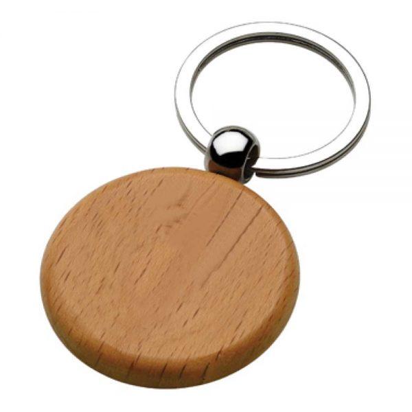 Round Wooden Keychains