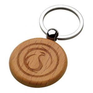 Promotional Round Wooden Keychains
