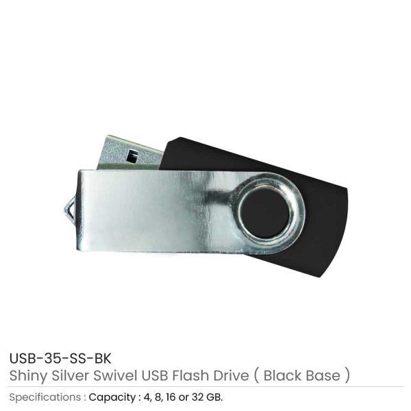 Swivel USB Flash - Black