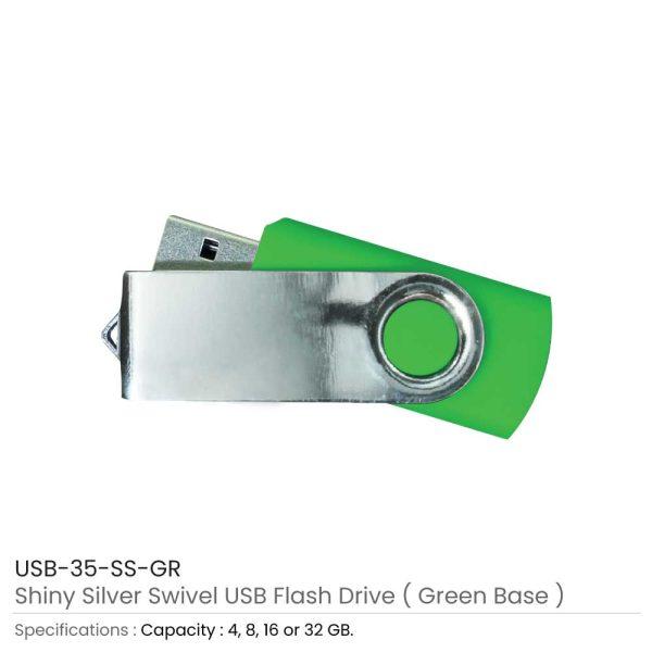 Swivel USB Flash - Green