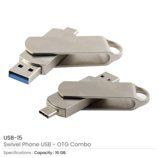 Swivel Phone USB with OTG 15