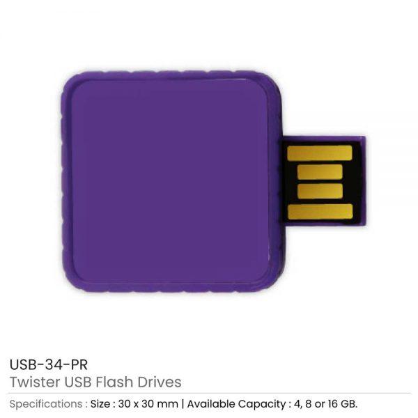 Twister USB Flash Drives Purple