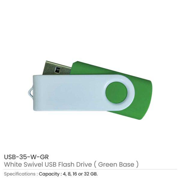 Swivel USB Drives - Maroon