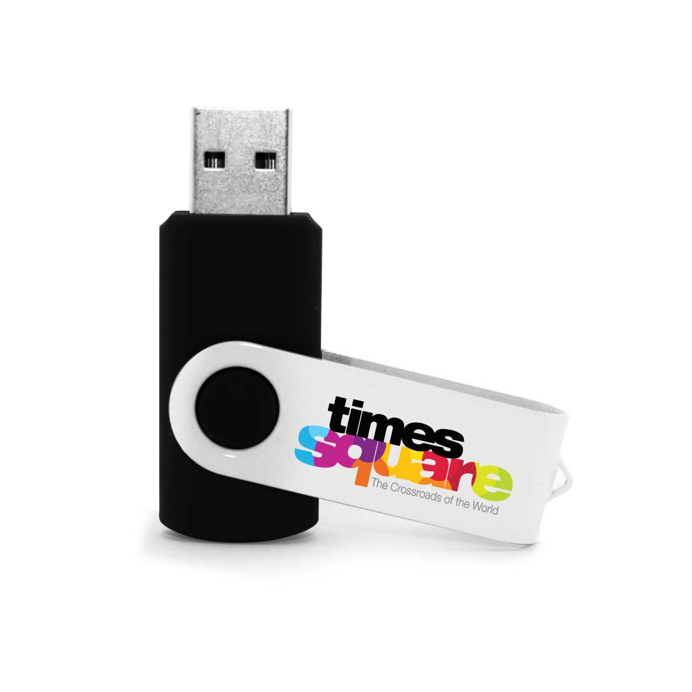 Branding White Swivel USB Drives