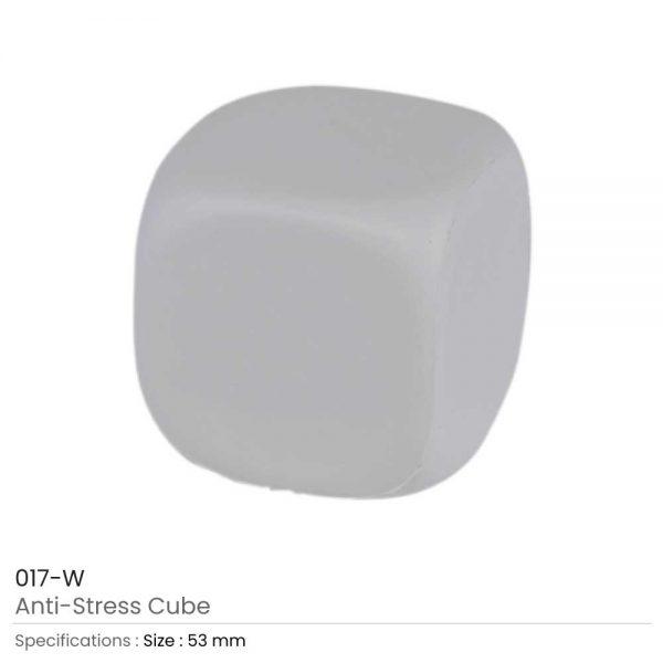 Anti Stress Cube White