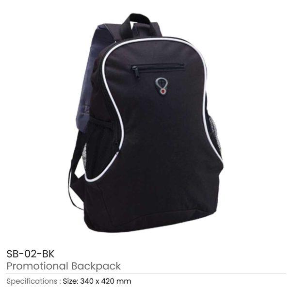 Promotional Backpacks SB-02-BK