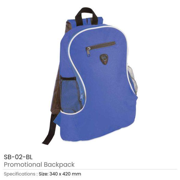 Promotional Backpacks SB-02-BL