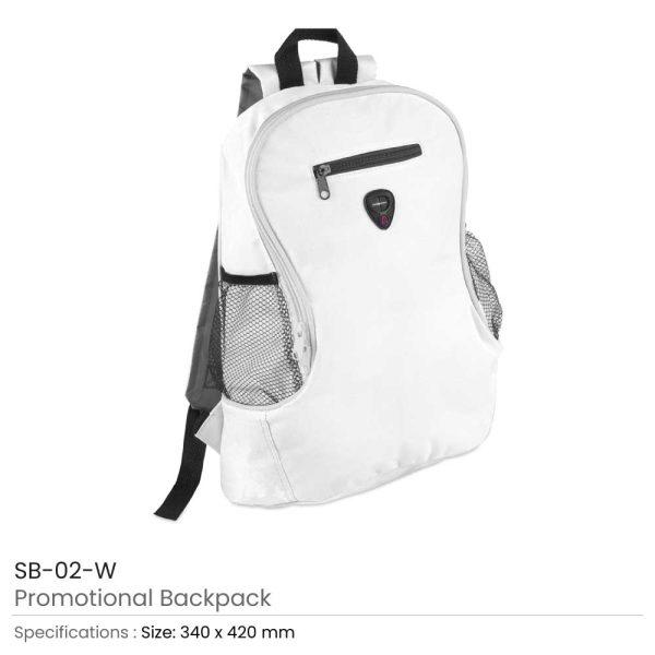Promotional Backpacks SB-02-W