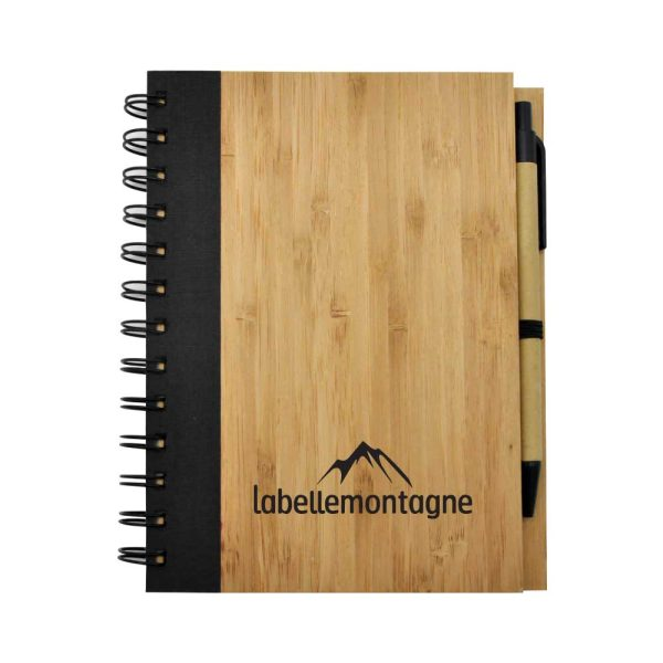 Branding Bamboo Notebook with Pen