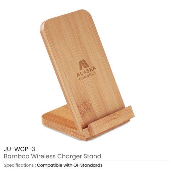 Bamboo Wireless Charger JU-WCP-3