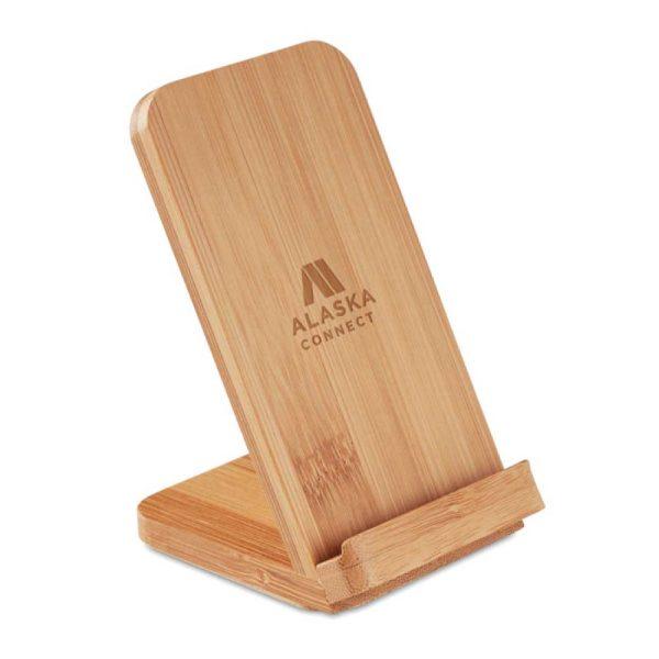 Branding Bamboo Wireless Charger JU-WCP-3