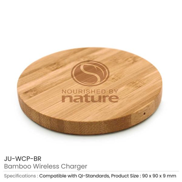 Bamboo Wireless Charger JU-WCP-BR