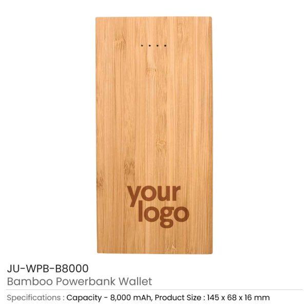 Bamboo Wireless Powerbank JU-WPB-B8000
