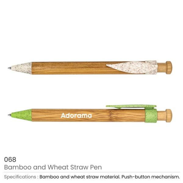 Bamboo and Wheat Straw Pens
