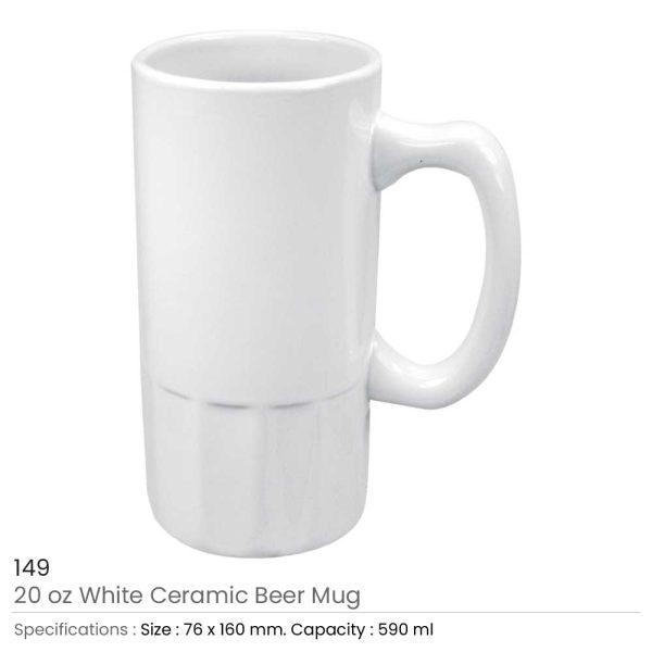 Beer Mugs White 149