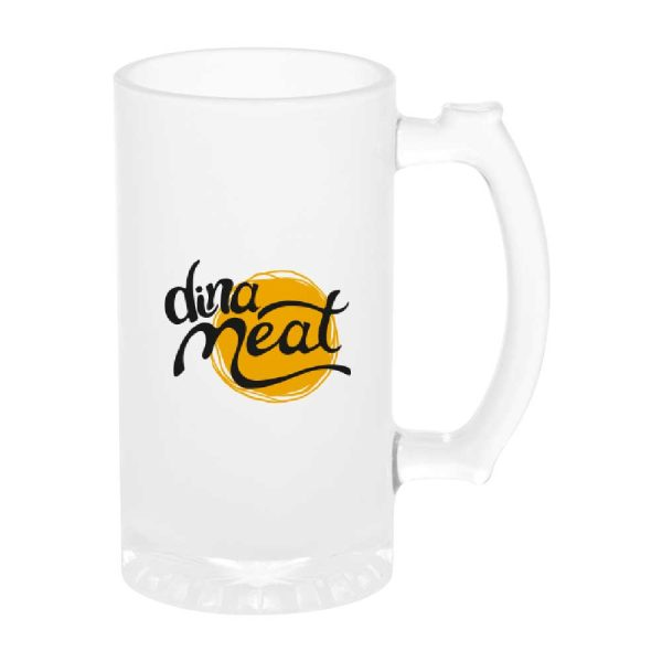 Branding Frosted Glass Beer Mugs