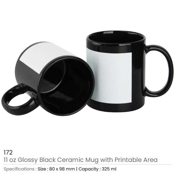 Black Ceramic Mugs 172