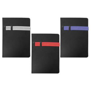 Black A5 Size Notebooks with Strap