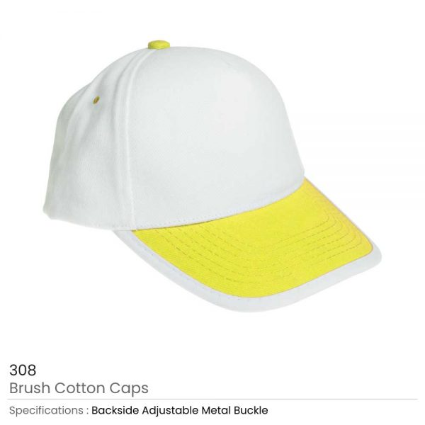 Brushed Cotton Caps Yellow