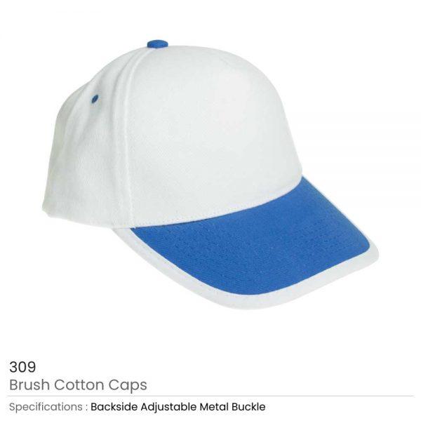 Brushed Cotton Caps Royal blue