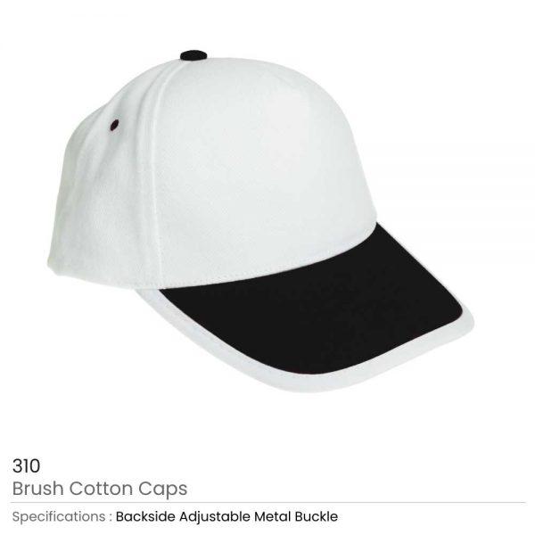 Brushed Cotton Caps Black
