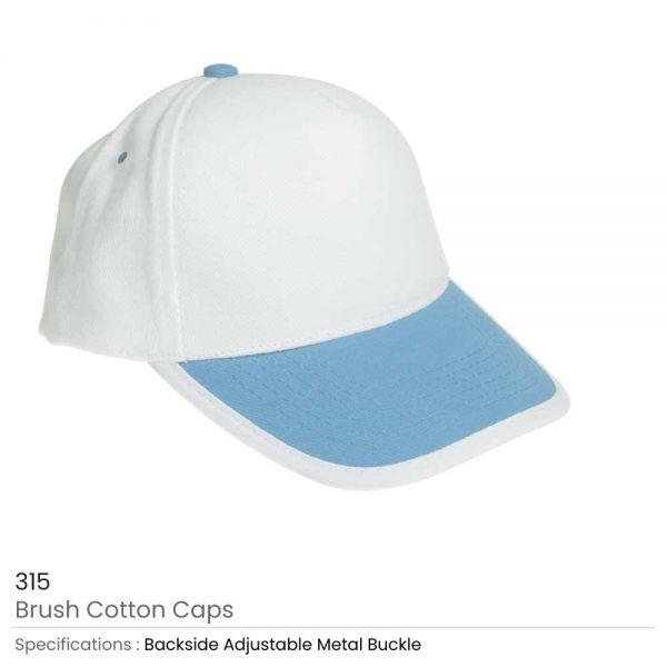 Brushed Cotton Caps Sky Blue