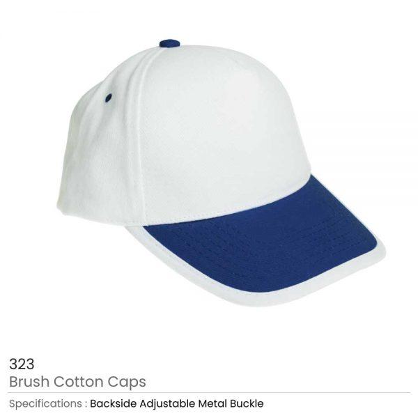 Brushed Cotton Caps Blue