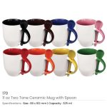 Ceramic Mugs with Spoon 170