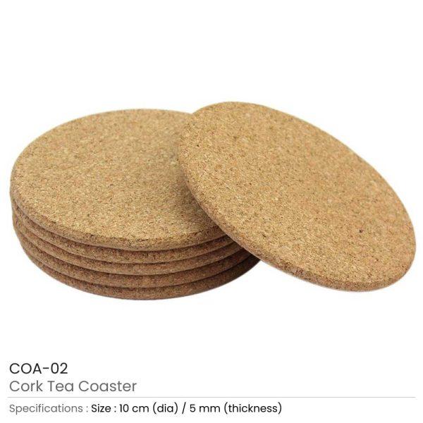 Cork Tea Coasters COA-02