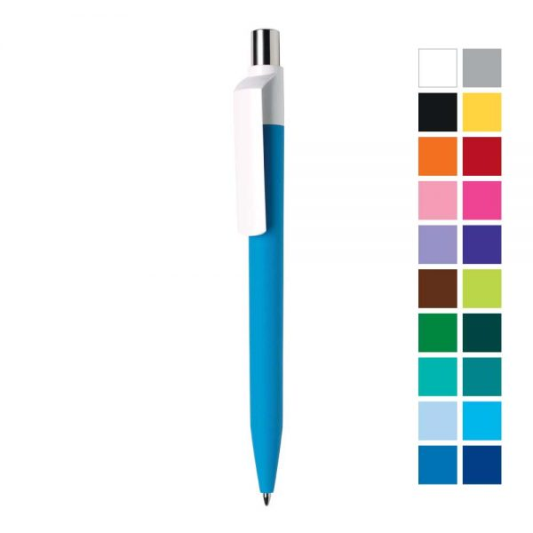 Dot Custom Printed Pens with White Clip
