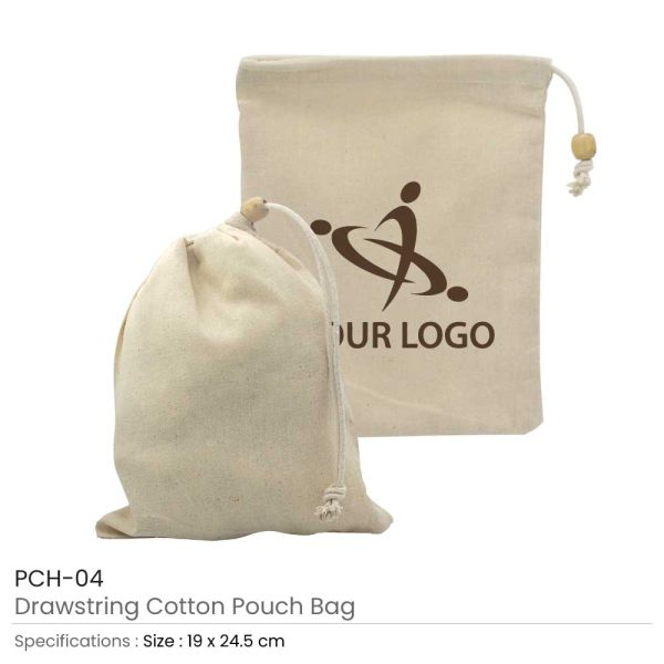 Cotton Pouch with Drawstring