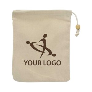 Branding Cotton Pouch with Drawstring