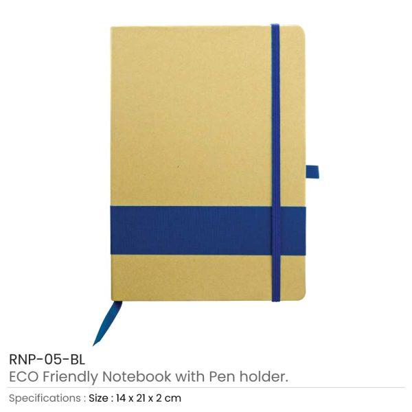 Eco Friendly Notebooks - Blue