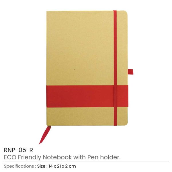 Eco Friendly Notebooks - Red