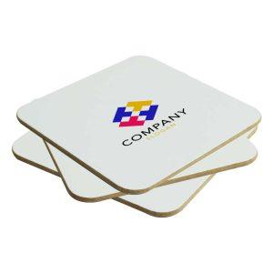 Branding Hard Board Tea Coasters 224