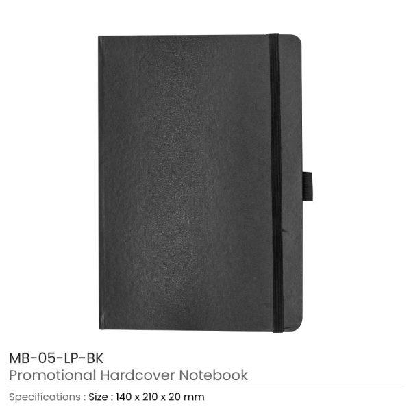 Hard Cover Notebooks Black