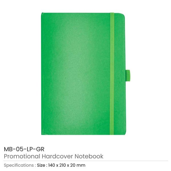 Hard Cover Notebooks Green