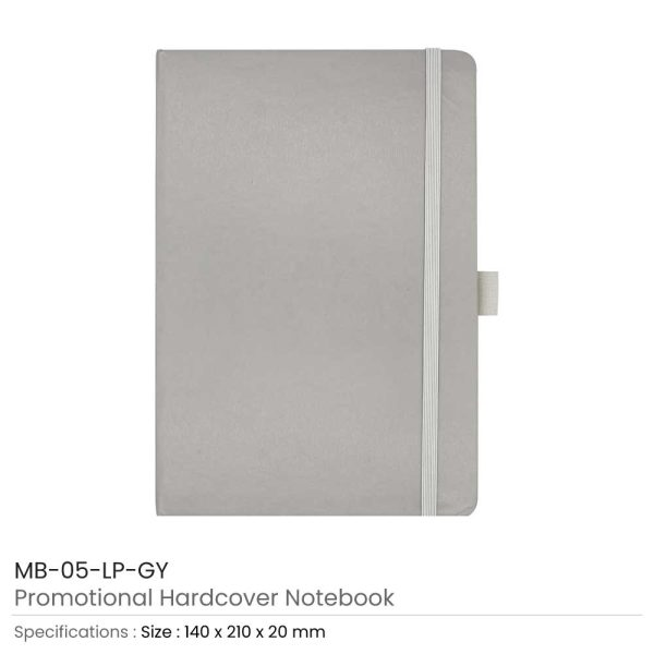 Hard Cover Notebooks Grey